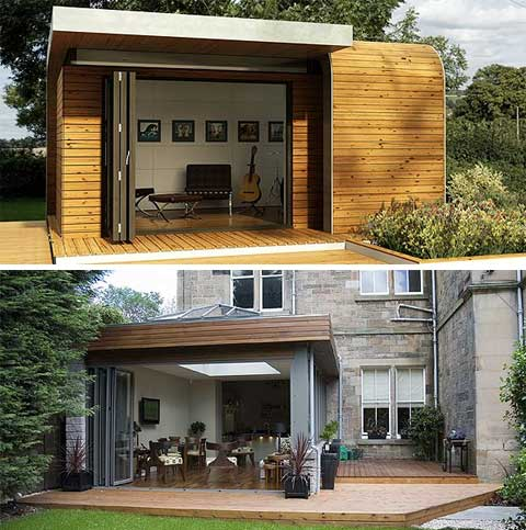 Atelier garden studios compact spaciousness prefab shed for Prefabricated garden rooms
