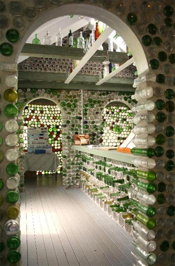 Bottle Houses: The {re}cycle of Gl - Modern Architecture on pump house designs, box house designs, playing card house designs, wooden doll house designs, birdhouse house designs, toothpick house designs, miniature house designs, glass house designs, tube house designs, boxcar house designs,