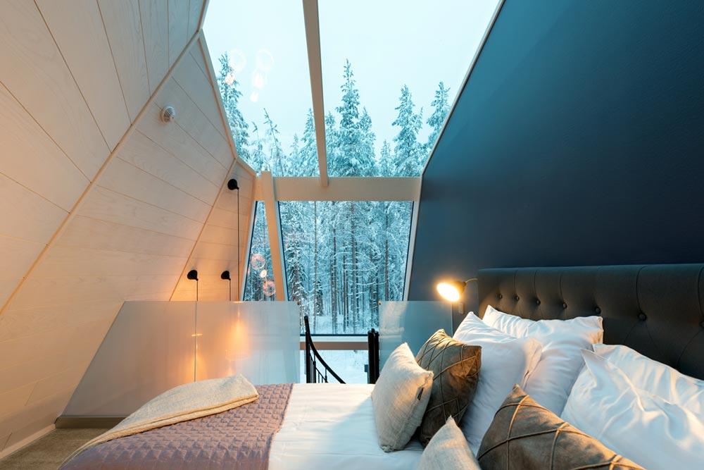 glass boutique hotel bedroom - Rovaniemi Glass Resort