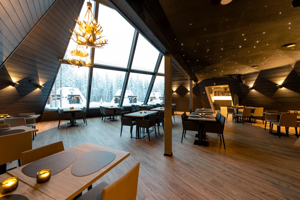 glass boutique hotel dining - Rovaniemi Glass Resort
