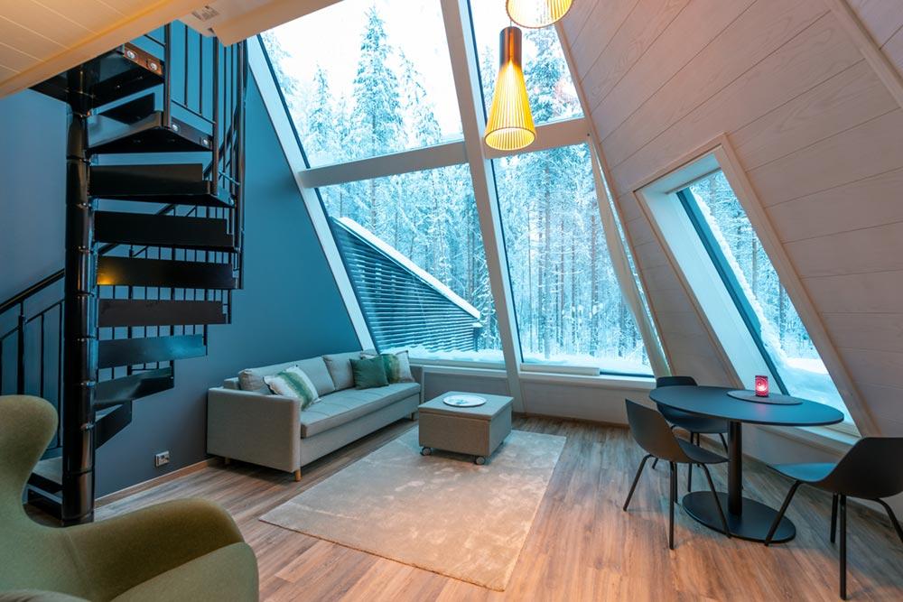 glass boutique hotel lounge - Rovaniemi Glass Resort
