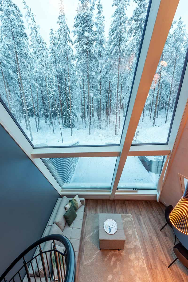 glass boutique hotel view - Rovaniemi Glass Resort