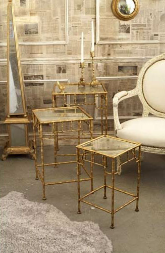 golden bamboo table set - Golden Bamboo Collection: Midas Touch