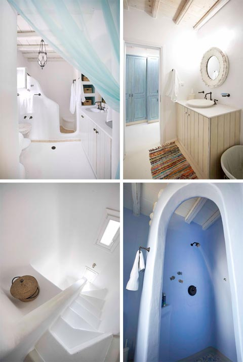Dreams of greece a seaside home beautiful interiors for Greek style bathroom design