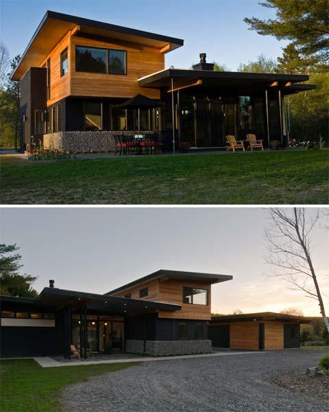 Muskoka River House Butterfly Roofs Amp Overhangs Modern