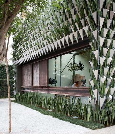 Firma Casa Behind A Living Green Wall Modern Architecture