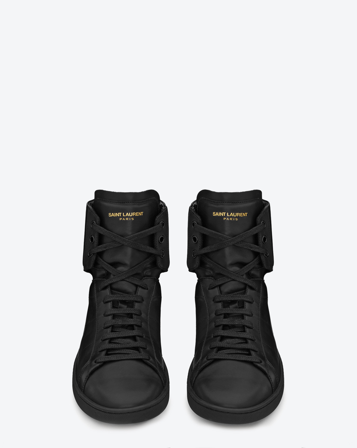 high top sneakers ysl - SL/01H Court Classic High Top Sneakers by Saint Laurent