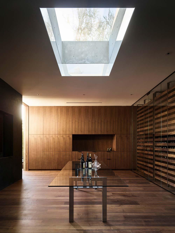 hillside home design cellar ww - Oak Pass House
