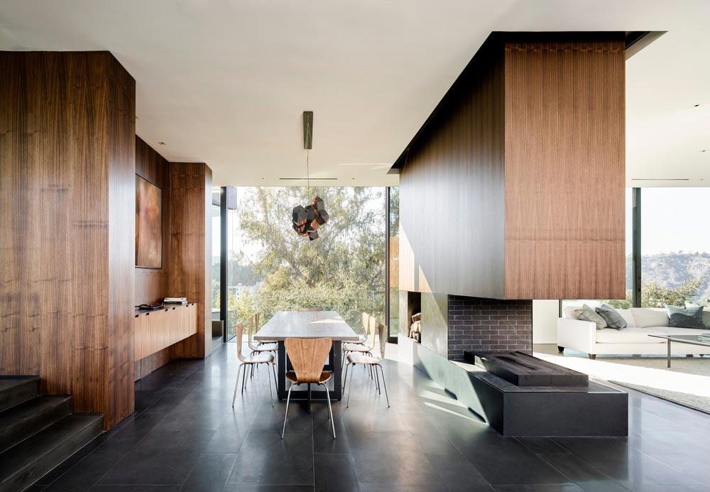 hillside home design dining ww - Oak Pass House