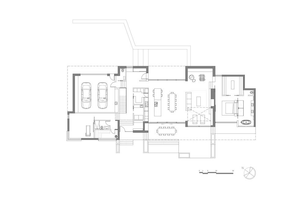 hillside lake house plan mua - The Slender House