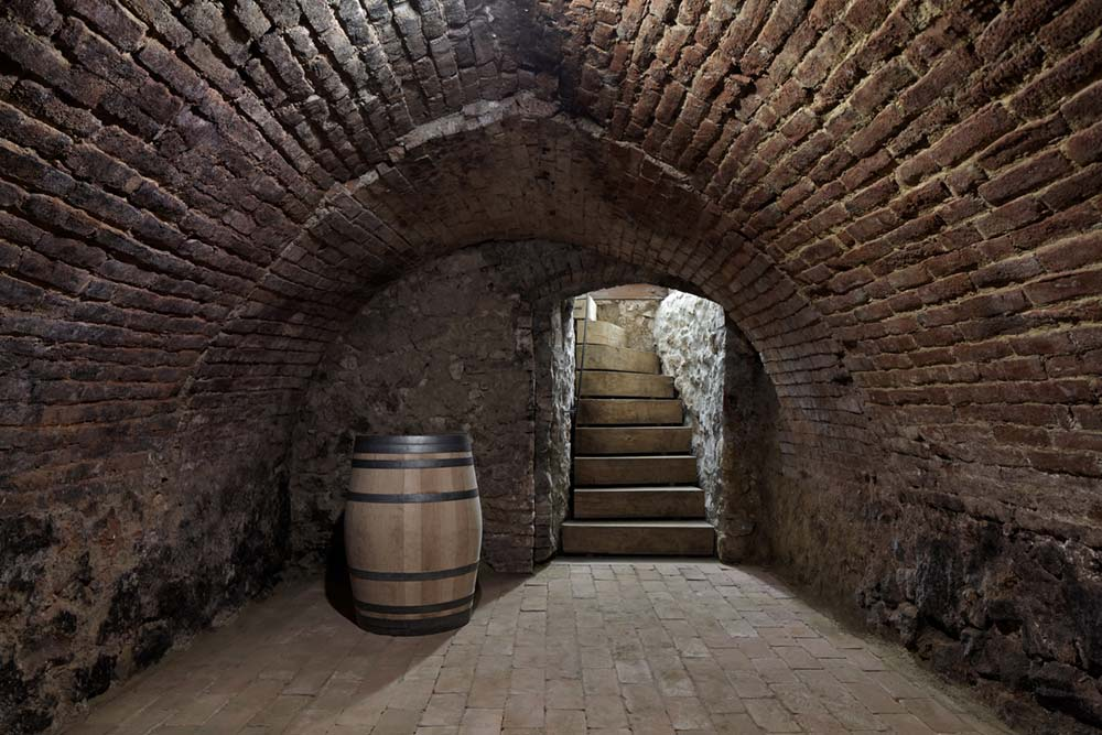 historic guesthouse renovation wine cellar - Stajnhaus