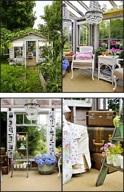 Interior Shed Decorating Ideas: Home Decor: Greenhouse Shed Makeover