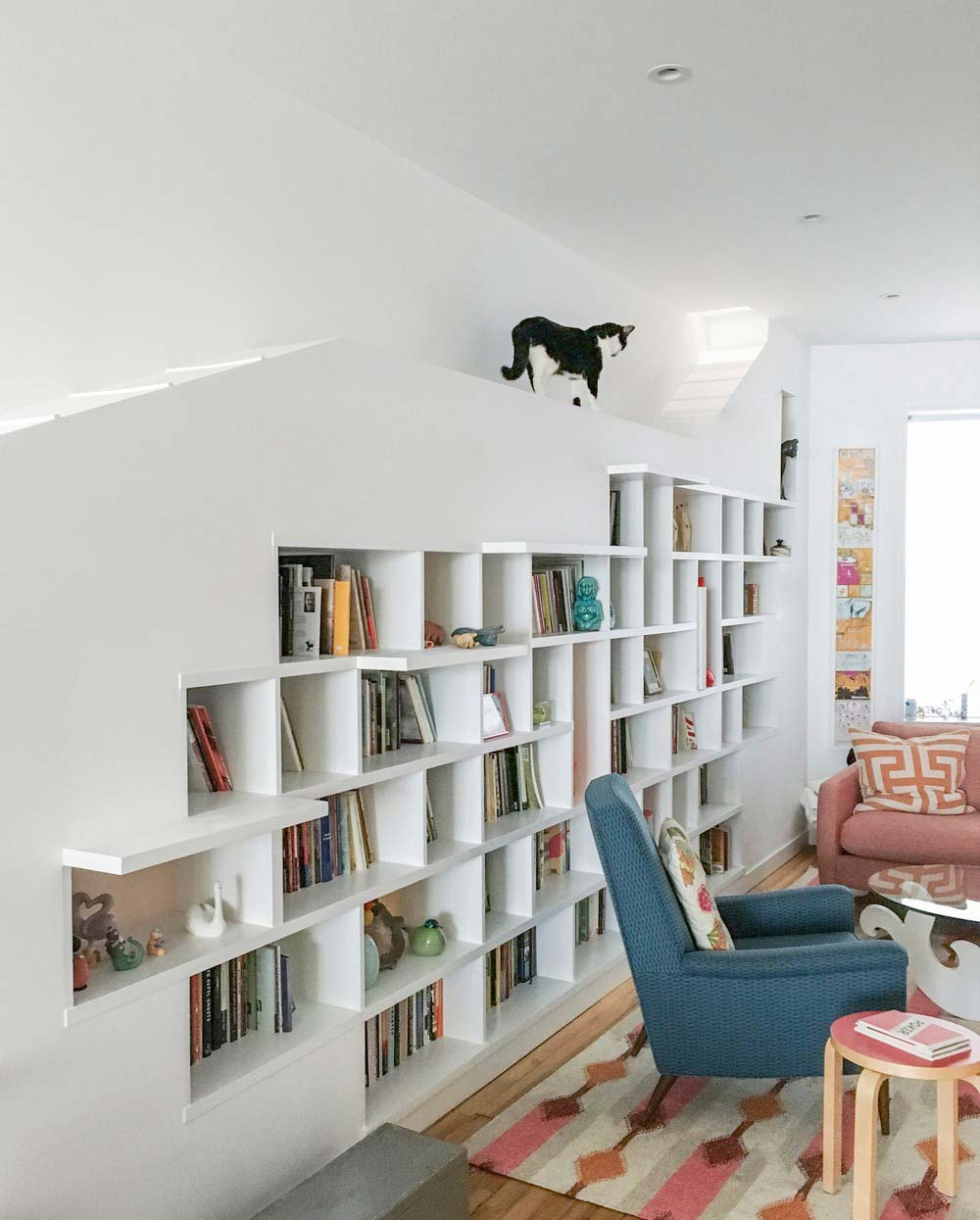 home design cat walkway bfdo - House for Booklovers and Cats