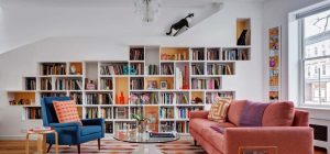 home design cats books bfdo 300x140 - House for Booklovers and Cats
