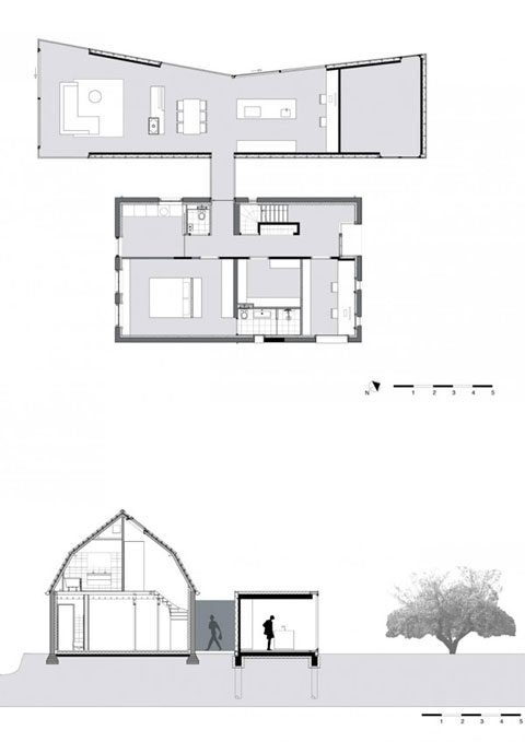 home extension plan acht5 - House Acht5: the Oneness of the Old and the New