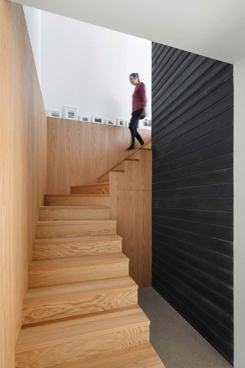 home extension wooden staircase - Chalet La Petite Soeur