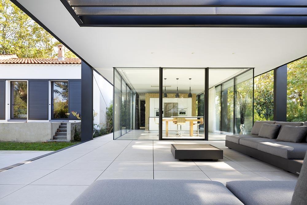 home glass extension kitchen blp - Maison CTN