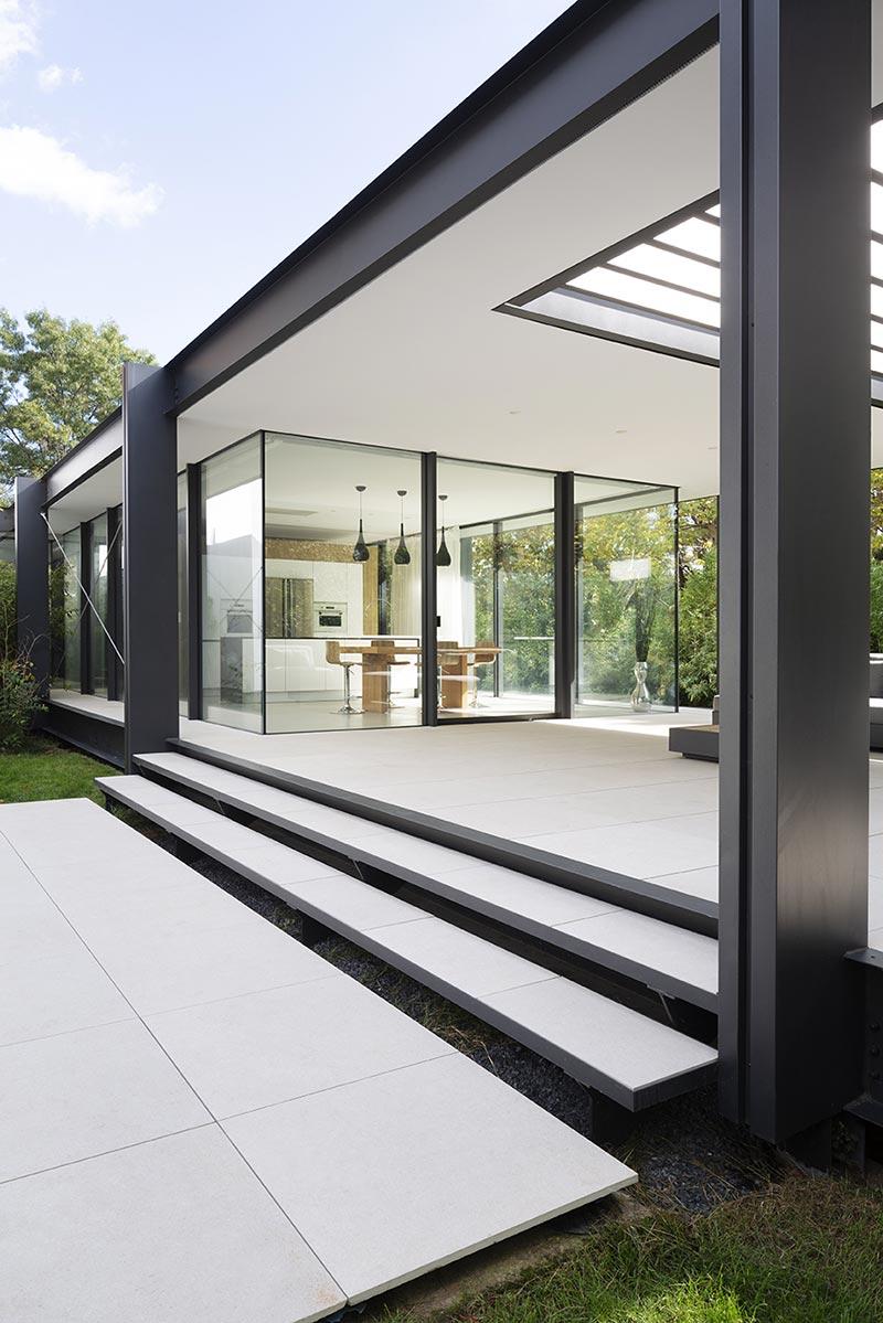 home glass extension kitchen blp2 - Maison CTN