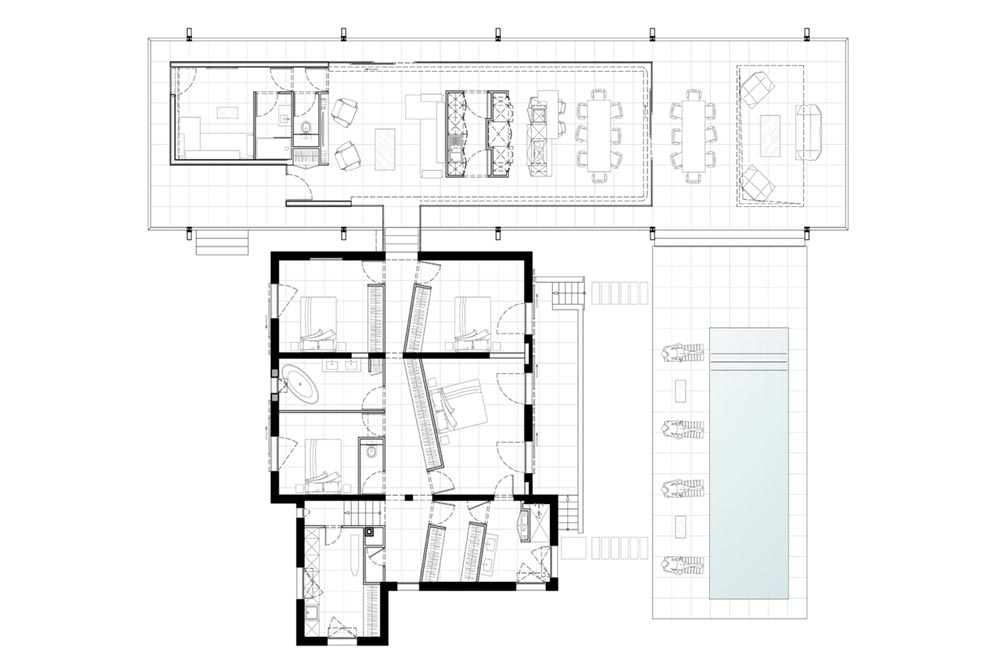home glass extension plan blp - Maison CTN