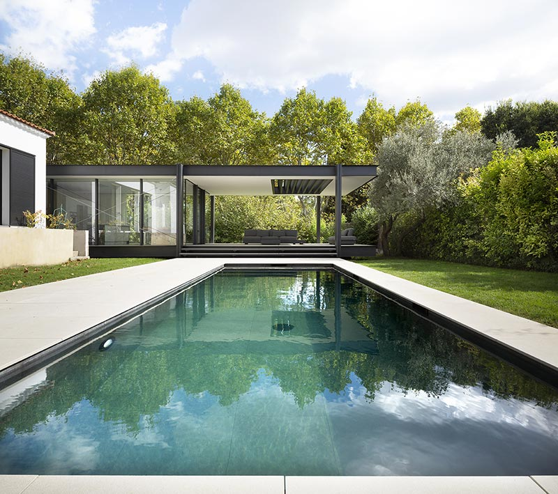 home glass extension pool blp - Maison CTN