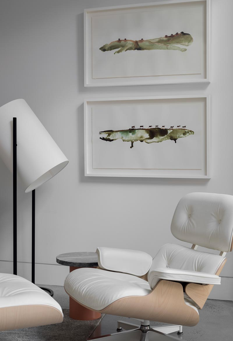 home interior white eames chair design - Headland House