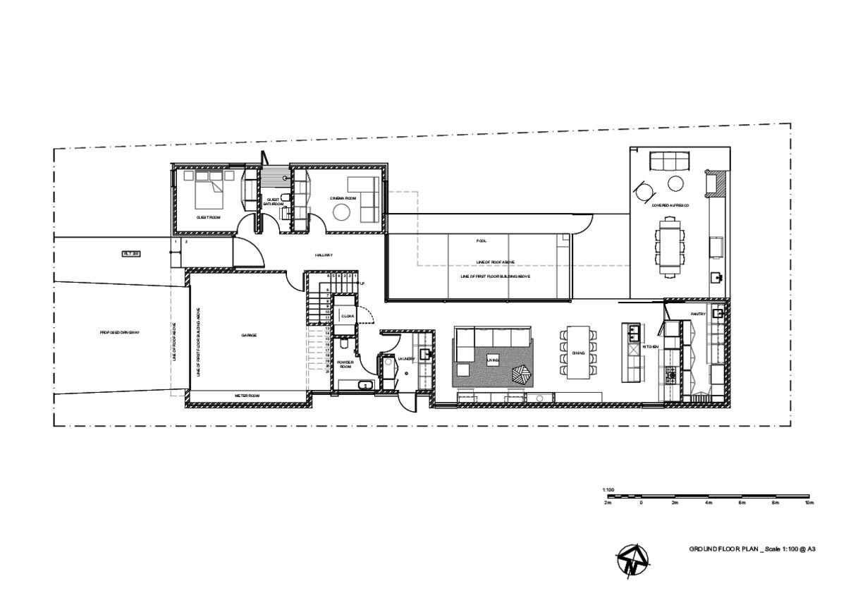 indoor outdoor home design plan 2 - Preston House
