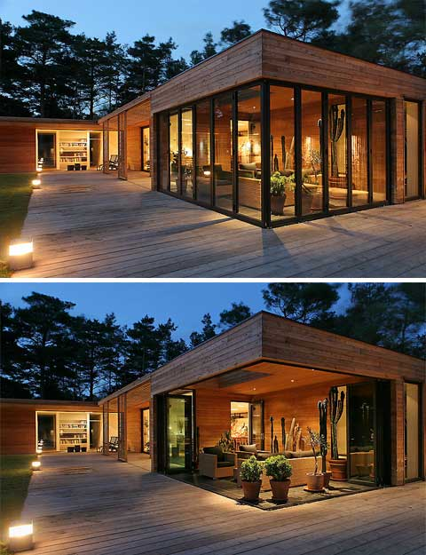 bergman werntoft house: out into the woods - modern architecture
