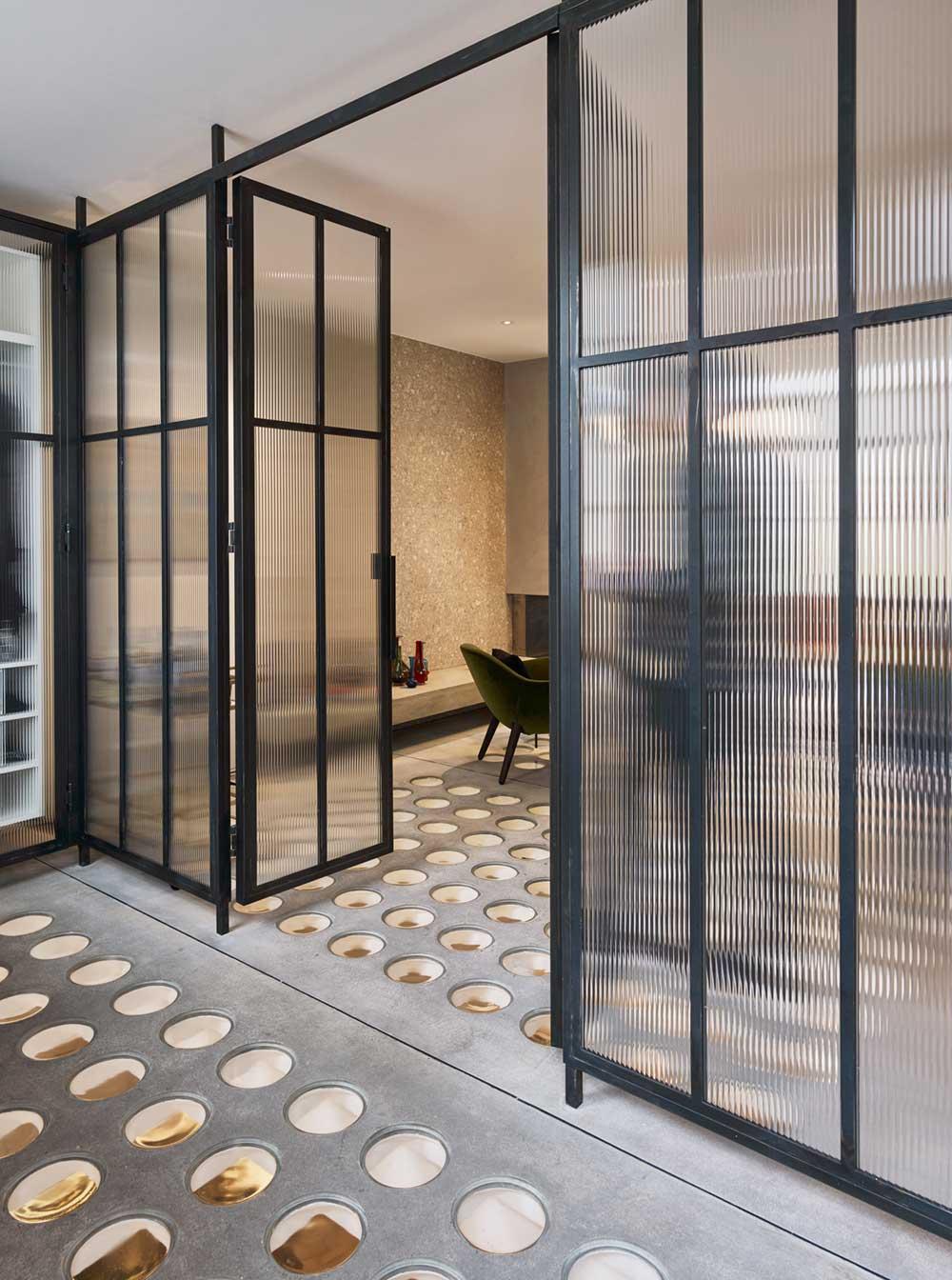 Industrial interior floor design