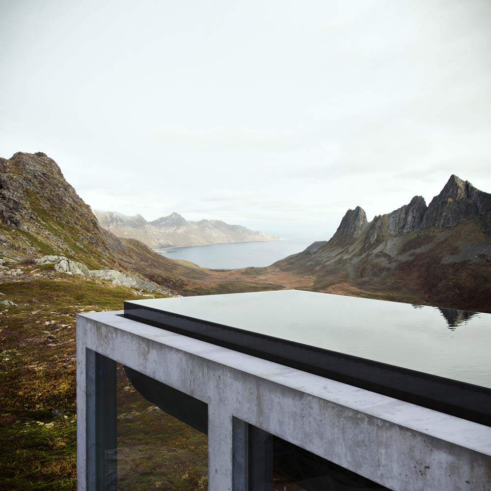 Luxury Summer House Design With Black Concrete Infinity