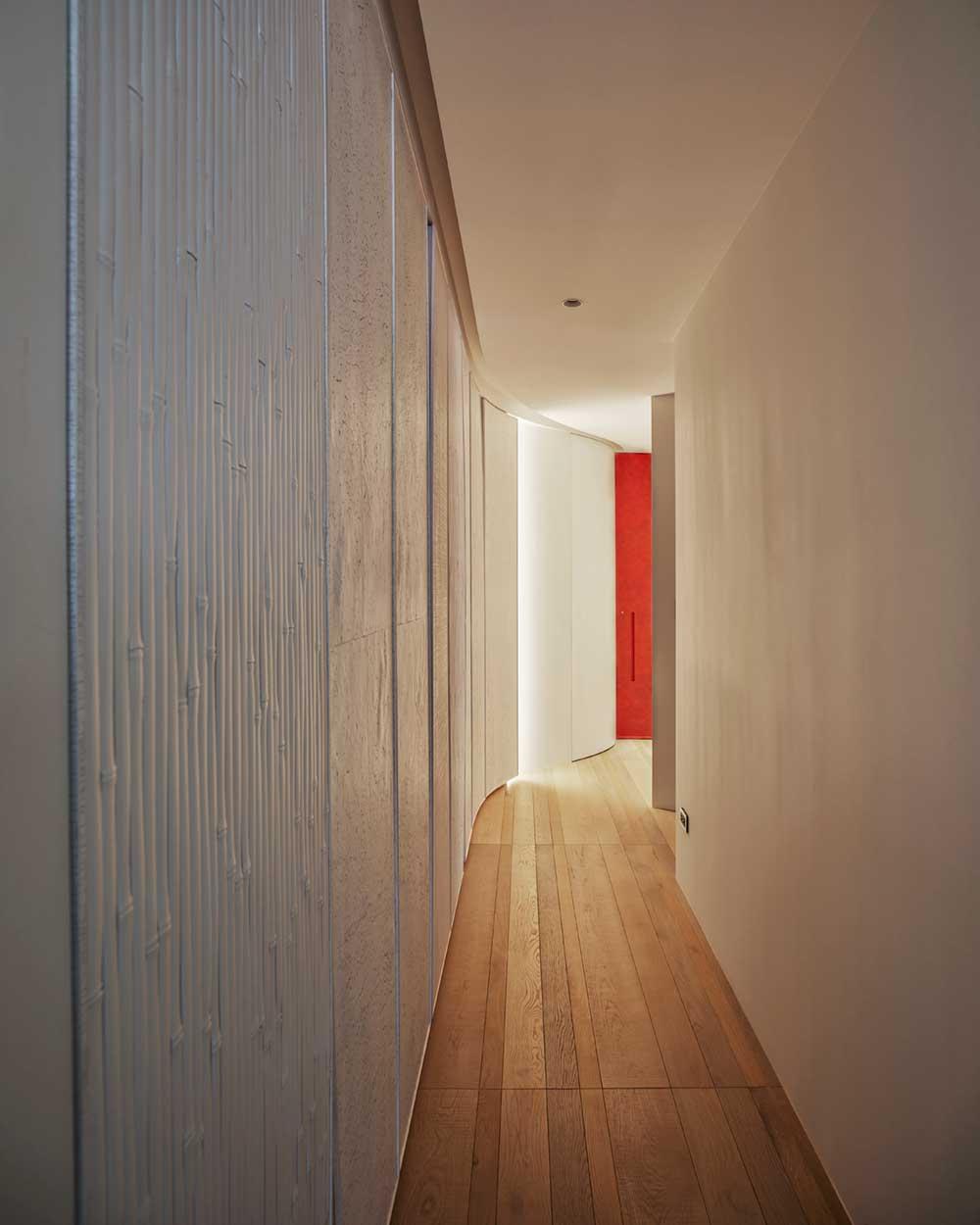 interior design curved walls wd - Fluid Mirror Apartment