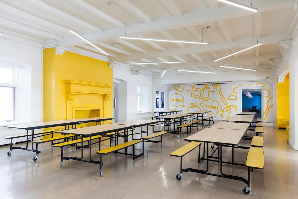 inspiring colorful interior design of a kids school in