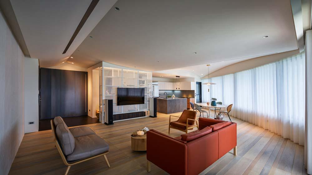 interior design kitchen wd - Fluid Mirror Apartment
