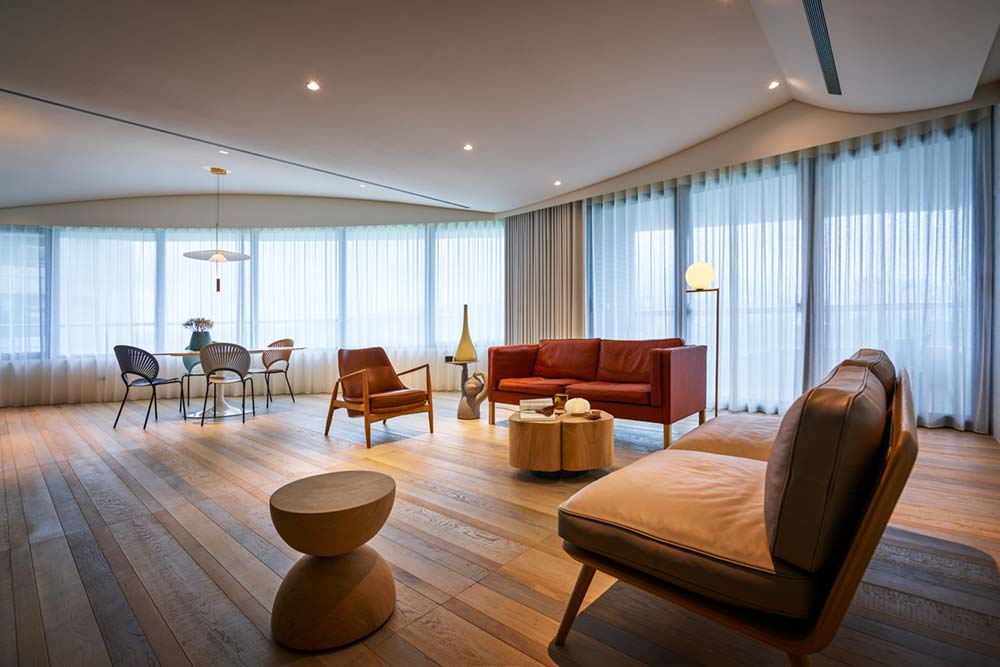 interior design living room wd - Fluid Mirror Apartment