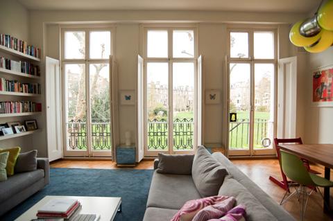 Interior design for family home in London