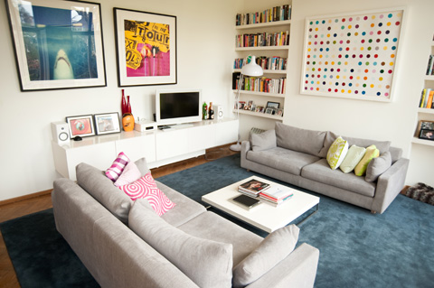 Interior design for family home in London - living room