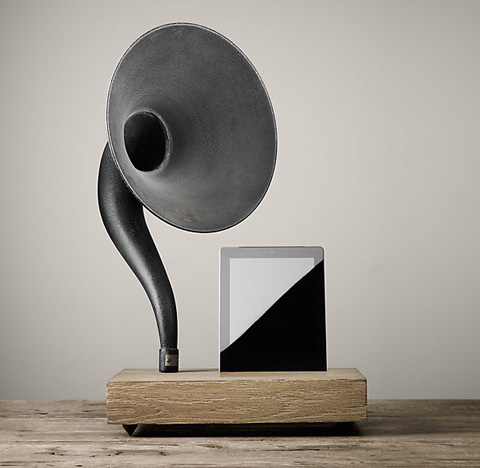 ipad-speakers-gramophone