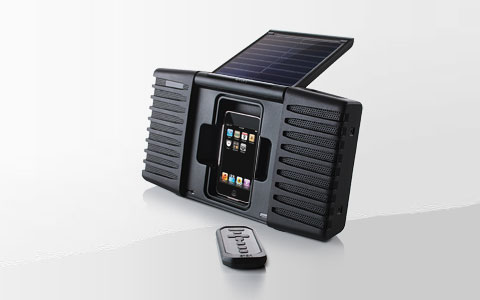 ipod iphone solar sound 2 - Soulra: Solar Sound System for iPod & iPhone