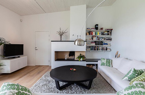 Home Interior in Sweeden - Open living area