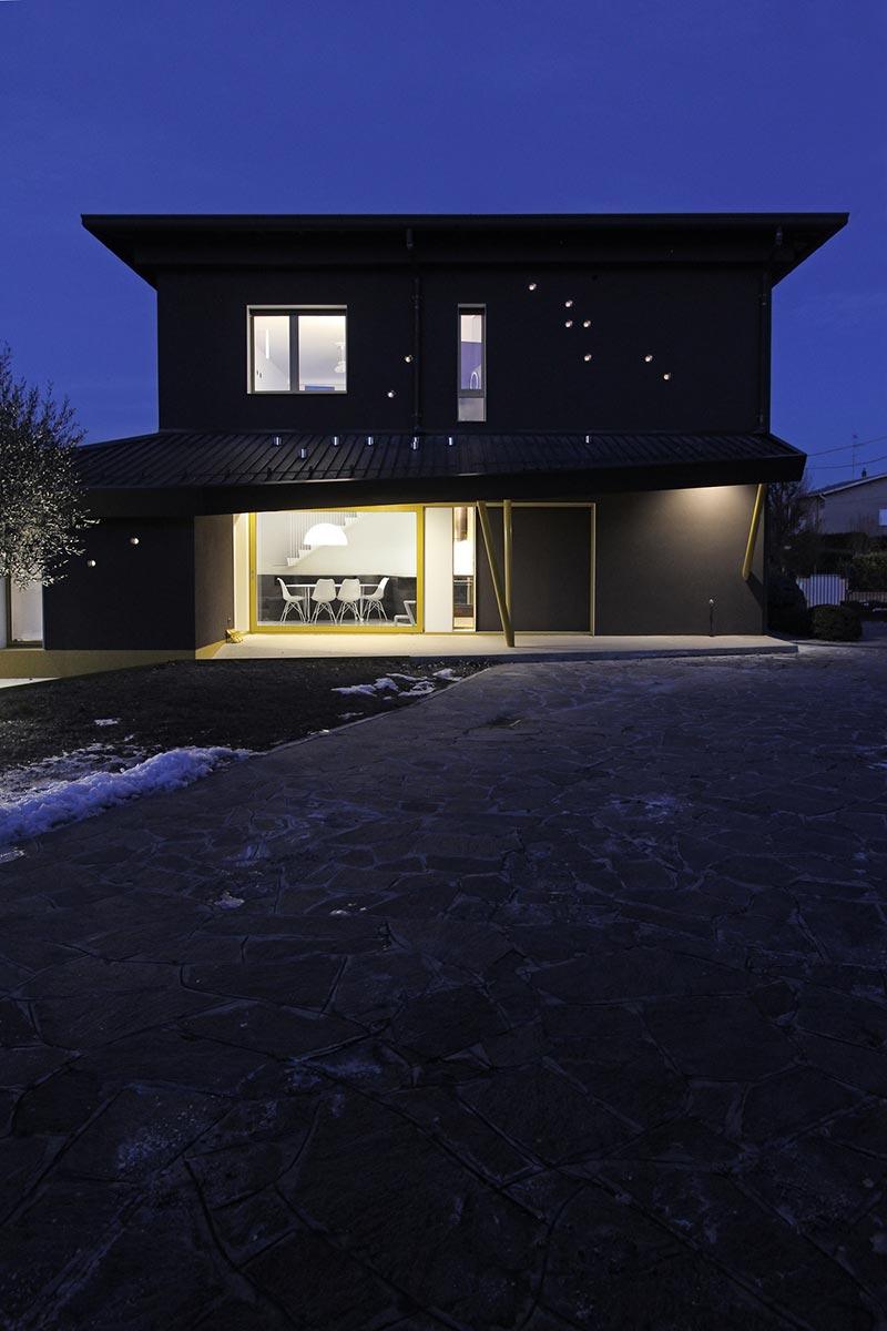 italian villa exterior design - 70's Italian Yellow & Terrazzo Villa