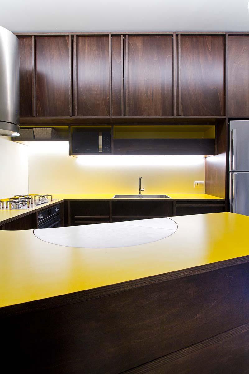 italian villa kitchen design - 70's Italian Yellow & Terrazzo Villa