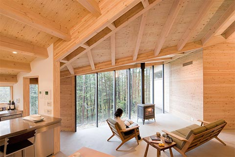 japanese cabin inbetween 5 - InBetween House: blending nature and architecture