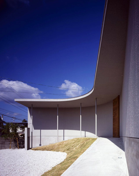 House In Naruto Curved Facade Japanese Architecture