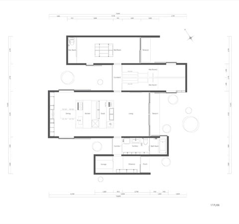 japanese house plan zigzag -  Zigzag House: In and Out