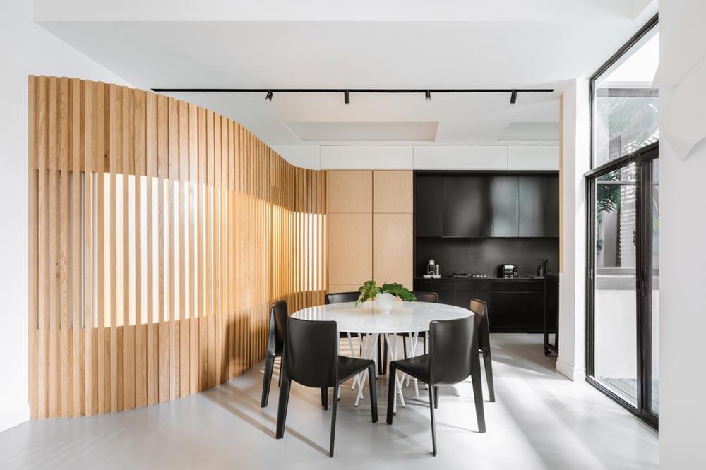 japanese interior design dining ba - Darlinghurst Apartment
