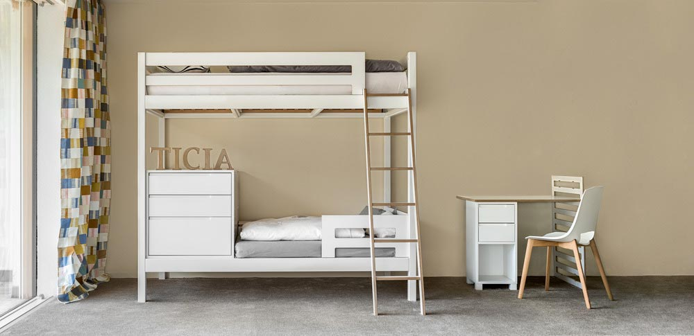 kids bunk bed storage - TICIA The Growing Bed