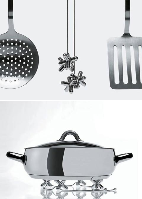kitchen trivet alessi tripod - Alessi Tripod Trivet: Jack Up The Heat