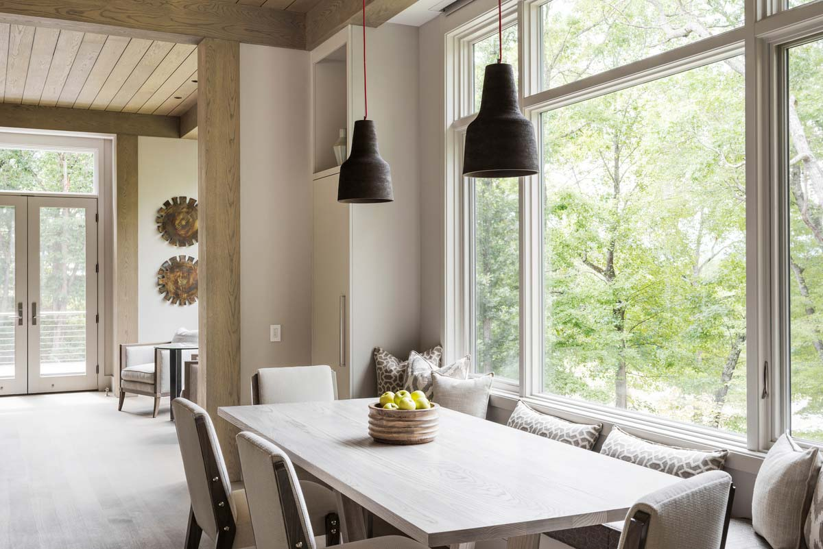 l shape farmhouse dining design - Mill Spring Modern Farmhouse