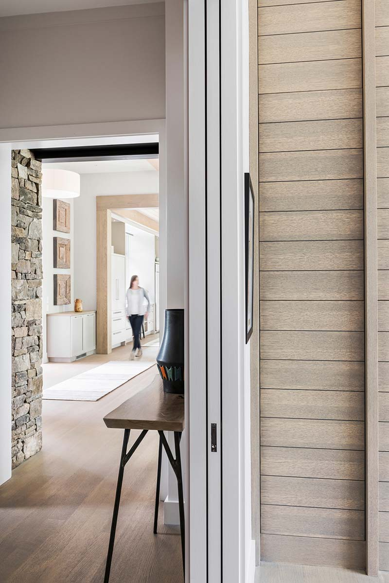 l shape farmhouse hallway design - Mill Spring Modern Farmhouse