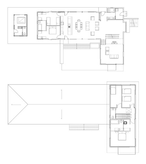 lake cabin plan - Beaver Lake cabin: in japanese