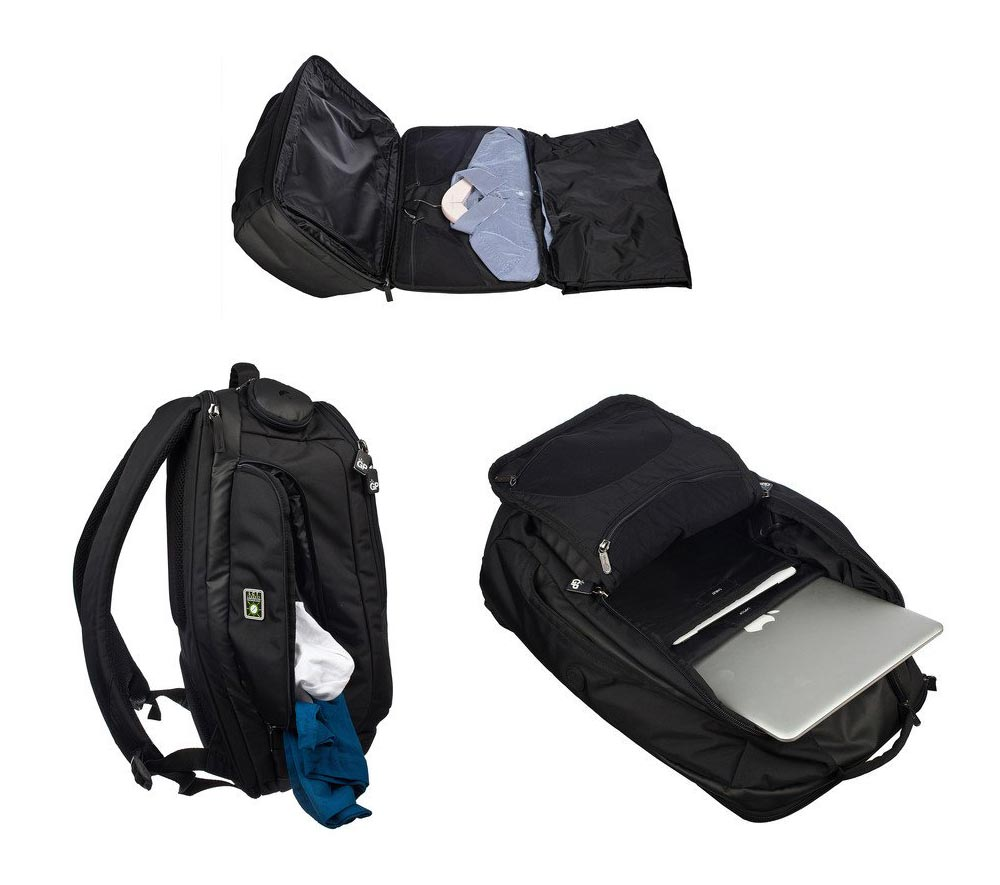 laptop backpack suiter genius - Genius Pack Travel Backpack with Integrated Suiter